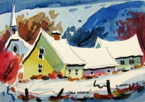 Village neigeux